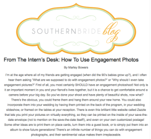 From the Intern's Desk - How to Use Engagement Photos